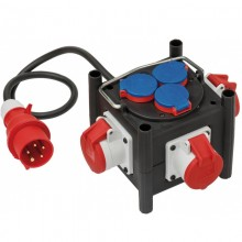 Распределитель Brennenstuhl Compact Power Distributor (1 м, вилка СЕЕ, 3 роз. CEE,3 роз. 220В, 1153680100)